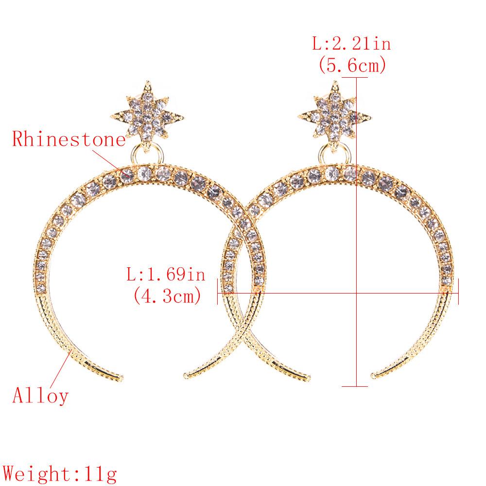 Fashion Alloy Rhinestone earring  Alloy  NHJE0939Alloy