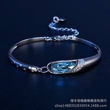 唯靓925银水晶手链-玻璃鞋镀金手镯手饰品批发厂家一件代发