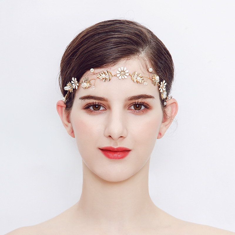 Beads Fashion Flowers Hair accessories  (Alloy) NHHS0371-Alloy