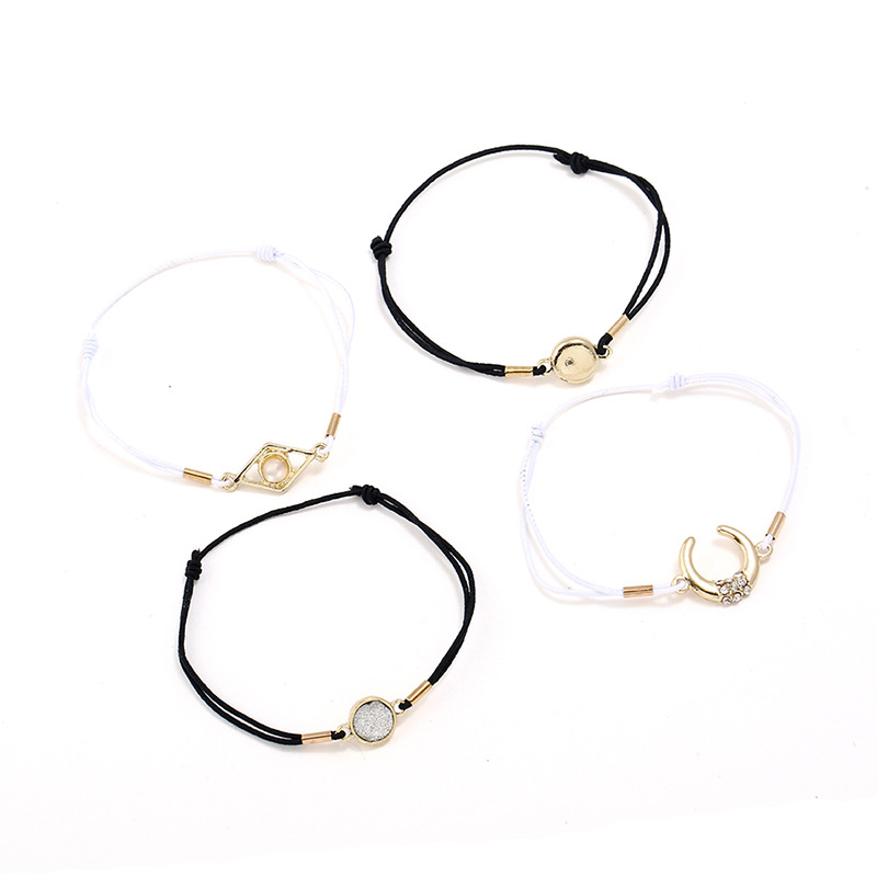 Simple Alloy Rhinestone Bracelets Geometric (Alloy)  NHNZ0326-Alloy