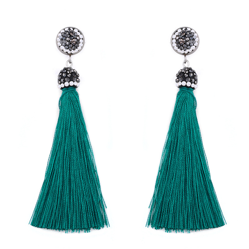 Alloy Fashion Tassel earring  (white)  Fashion Jewelry NHAS0634-white