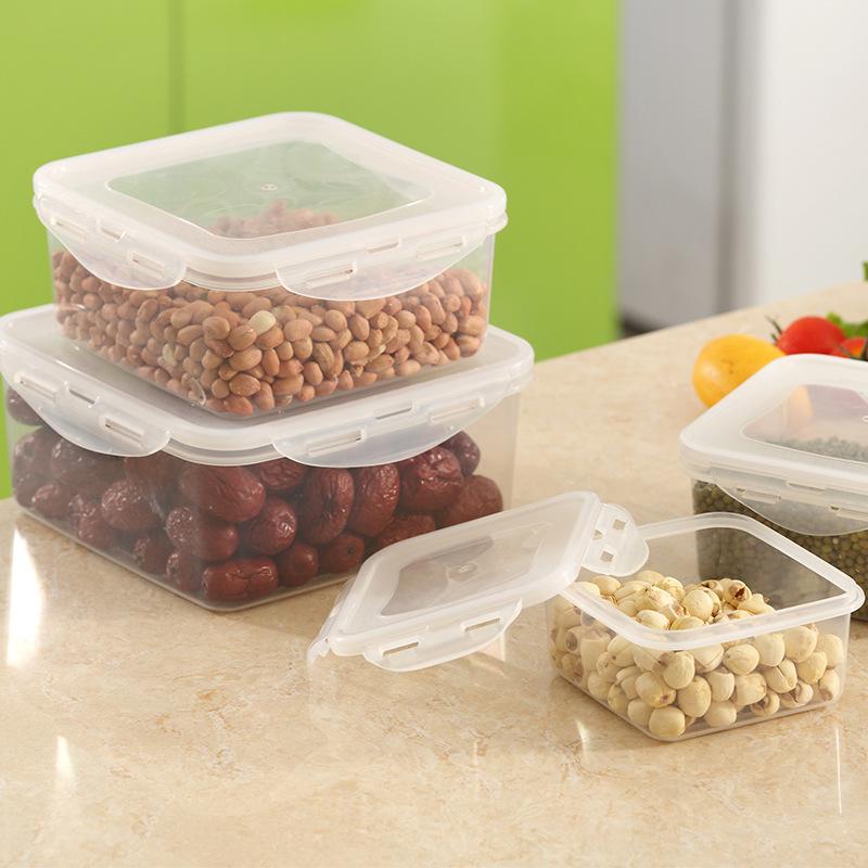 塑料正方形水果蔬菜保鲜盒便携冰箱密封盒防漏水儿童便当饭盒批发
