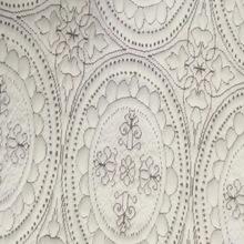 厂家直销针织提花布夹丝空气层涤纱丝床垫枕套面料批发条纹健康布