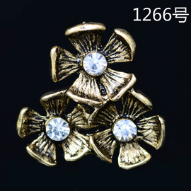 Small daisy flower disk drill buckle hair decoration diy retro alloy accessories shoe clothing bag diy jewelry 1266