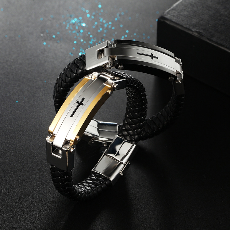 Occident and the United States Titanium steel Paint bracelet (Gold)NHZH0351-Gold