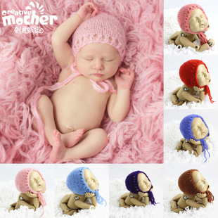Cross-border new mohair children's photography knit hat photo studio baby photo mohair knitted hat 331
