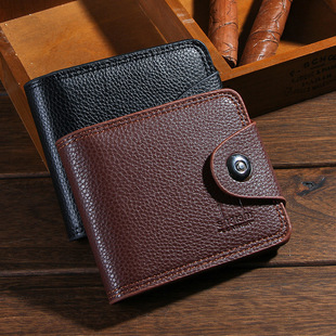 Factory wholesale men's wallet, short foreign trade retro buckle wallet, wallet AliExpress wallet