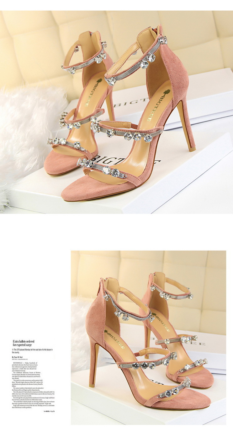 40de4a4f88be69 ... Women Fashion High Heel Sandals Rhinestone Decorated Diamond Pumps ...  shop best sellers afd39 ...