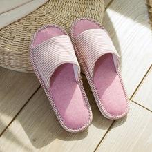 日韓居家亞麻拖鞋家用拖鞋鏤空家居拖鞋 木地板室內亞麻拖鞋