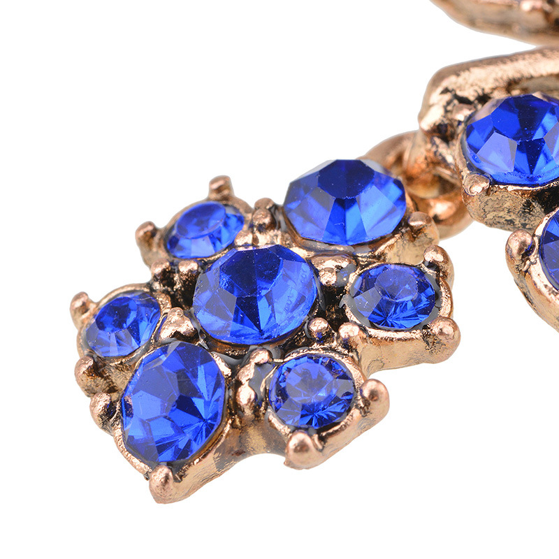 alloy Diamond earring (blue)NHYT0279-blue