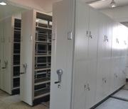 档案室手摇移动密集架 钢制密集柜轨道档案存放全封闭病案密集架