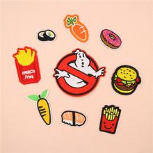 长宽刺绣汉堡薯条红萝卜布贴微章鞋帽箱包手机壳配饰补丁服装辅料