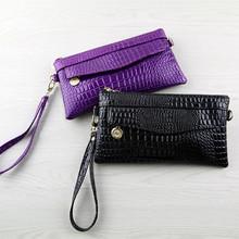 时尚亮面女士长款手拎钱包包袋零钱手机包单肩斜挎包两用包包批发