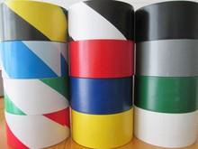 薦 黑黃斑馬膠帶 48mm*18m PVC黃黑警示膠帶 地板膠帶批