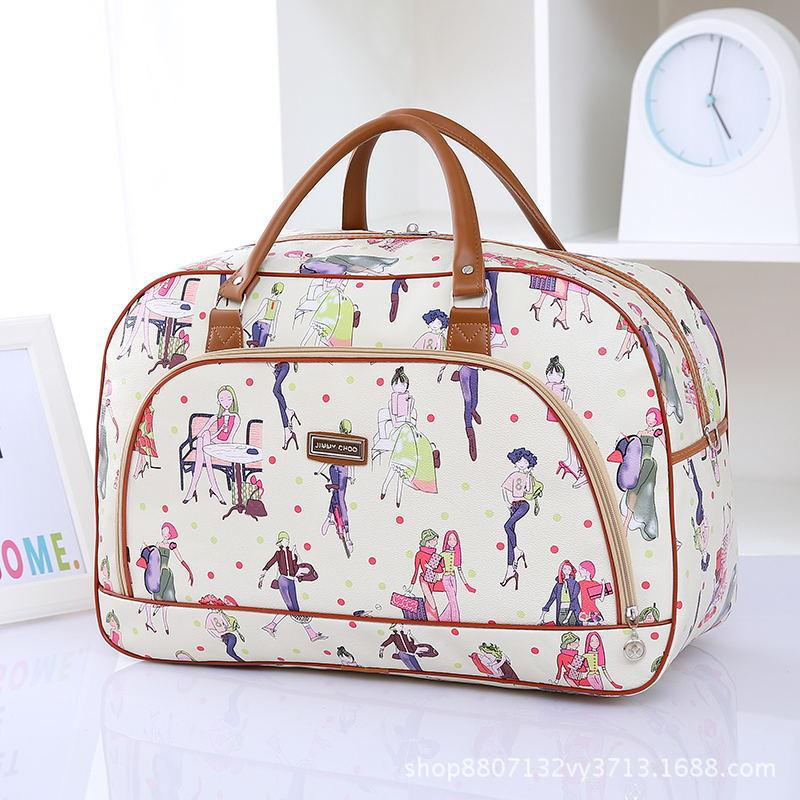 厂家批发PU皮旅行包短途出差防水行李包男女学生韩版手提包行李袋