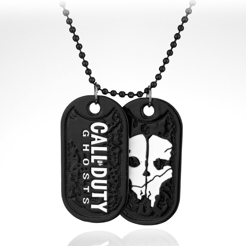 Call of Duty Ghosts Call of Duty Ghosts Tag Necklace Game Accessories منفذ المصنع