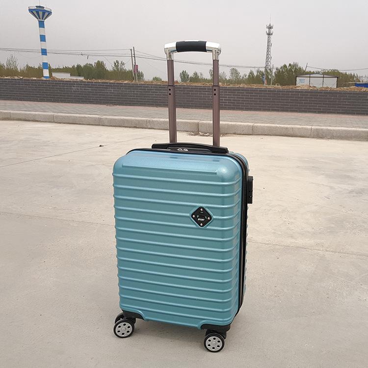 新款厂家批发PC行李登机旅行拉链密码锁万向轮拉杆箱20-24寸
