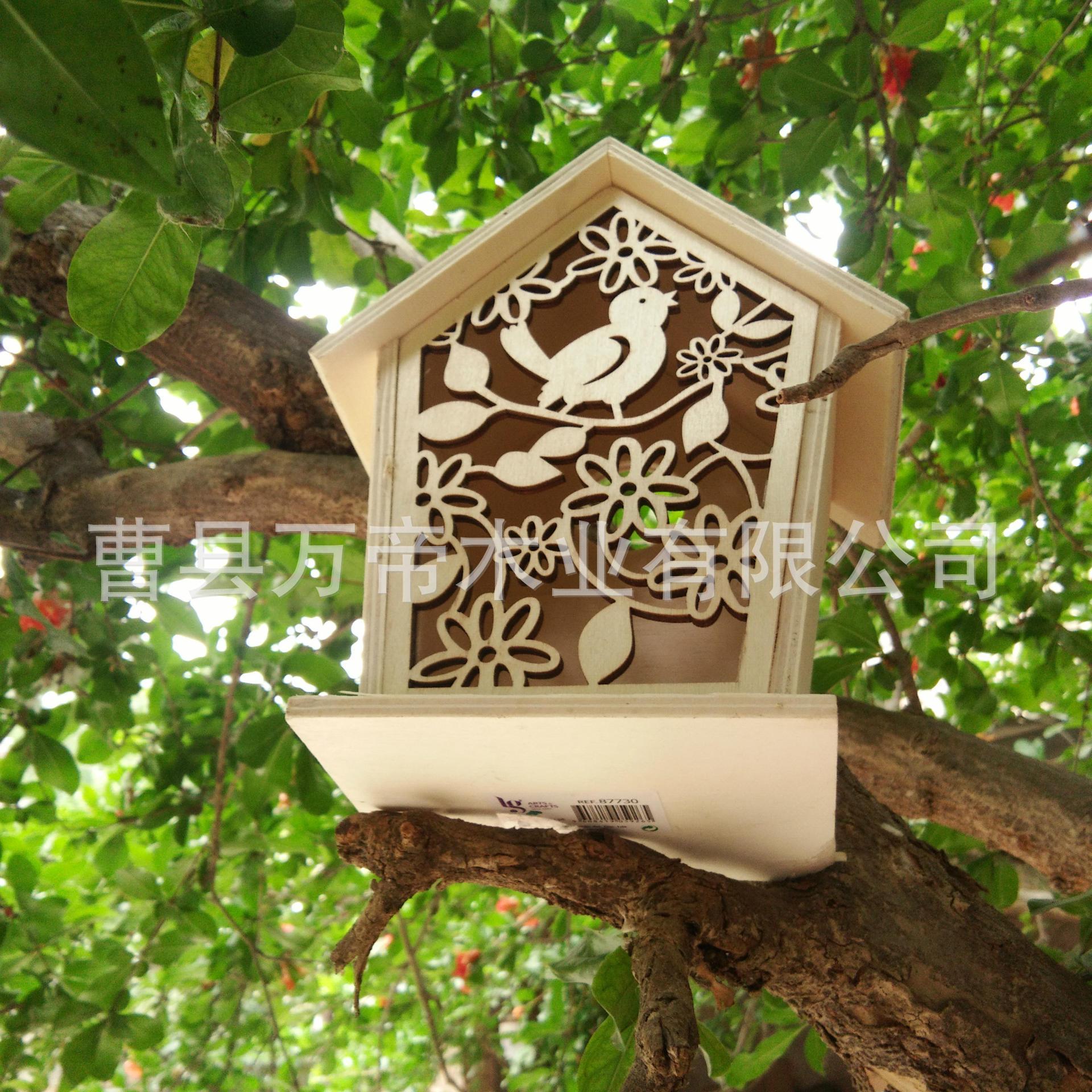 厂价供应木质工艺鸟窝 手工实木鸟巢 装饰鸟笼挂件 鸟窝实木玩具