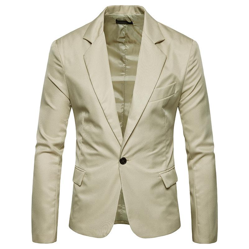 外贸批发新款男士西服韩版修身休闲纯色侧开衩直筒小西装8色可选