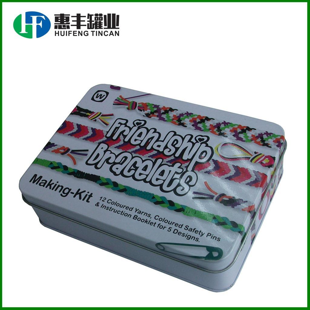 马口铁首饰盒 别针针线盒 方形礼品铁罐TIN BOX 收纳特产粗粮铁盒