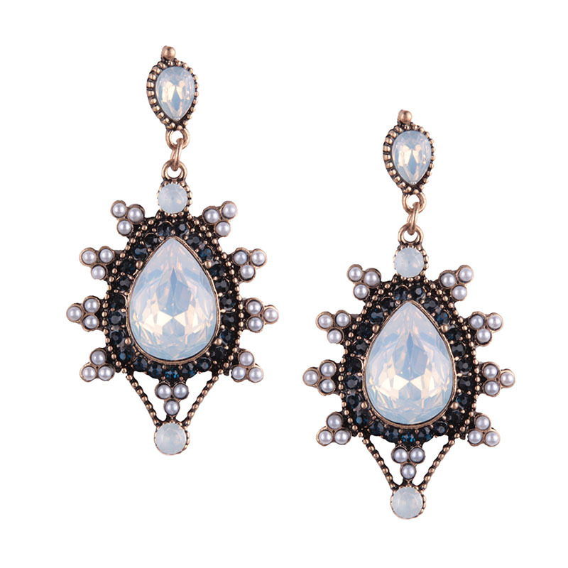 Occident and the United States alloy plating earring (Colorful)NHJQ9255-Colorful