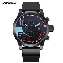 时诺比sinobi品牌爆款运动石英手表 男士三眼概念手表批发 9728