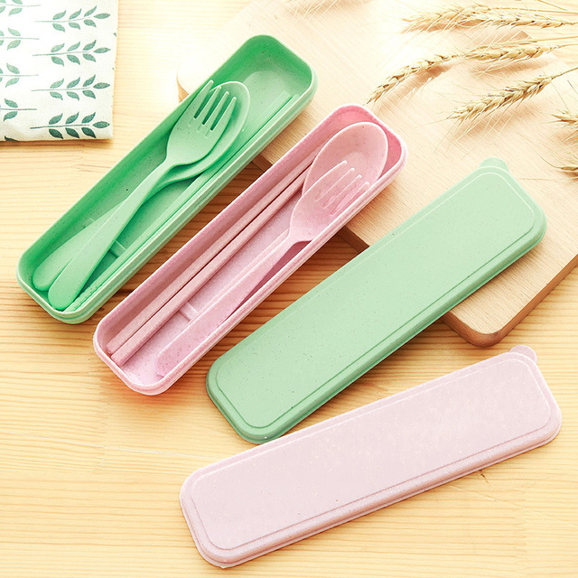 2212 cầm tay ba mảnh dao kéo sáng tạo đũa Hàn Quốc muỗng nĩa Đi du lịch với trẻ em Sinh viên Gift Set Bộ dao kéo
