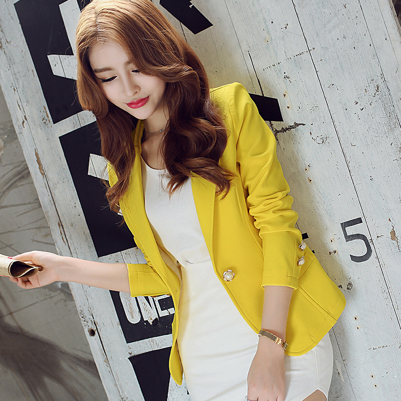 彩黛妃2020冬新款女装外套女士大码时尚休闲显瘦修身长袖小西装