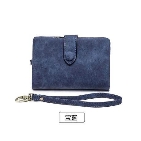 Hàng da Amoy * Ví mới 2019 nữ ngắn Phần phiên bản Hàn Quốc của khóa nhiều túi xách tay ví cầm tay ví nữ