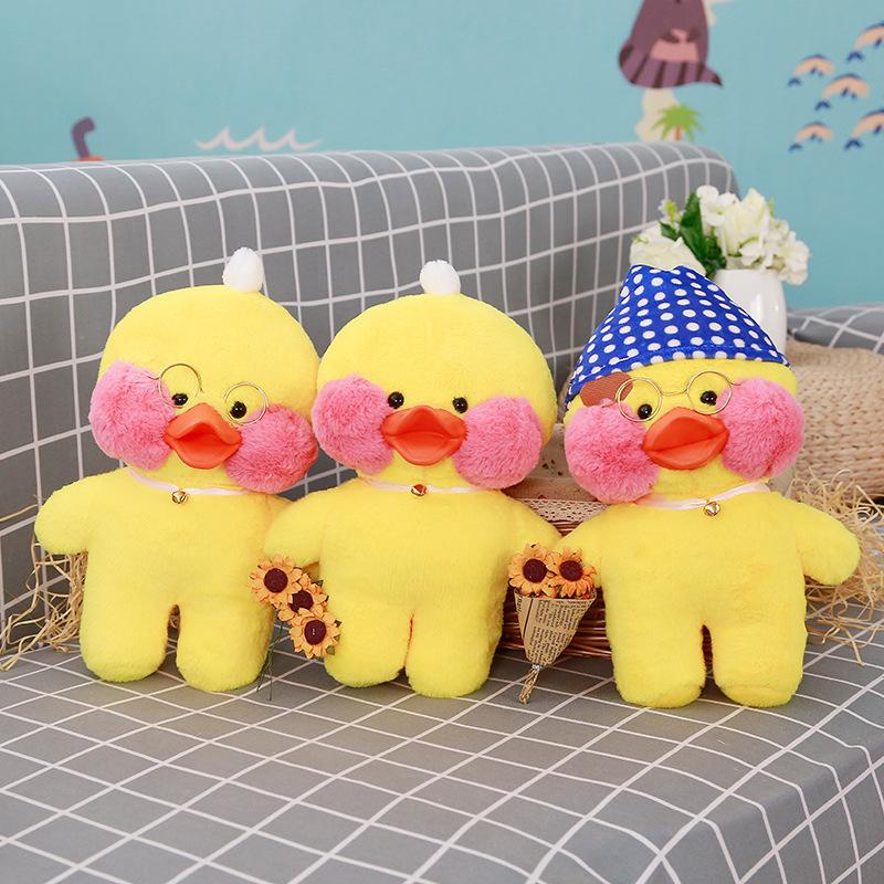 一件批发直销ins现货玻尿酸小黄鸭公仔鸭子毛绒玩具娃娃生日礼物