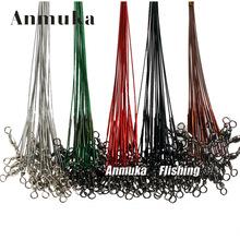亞馬遜爆款 路亞防咬線前導線 不銹鋼鋼絲繩釣大魚防纏繞垂釣用品