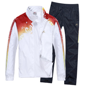 2017 autumn leisure suits, fashion sportswear, men's lovers, two pieces of loose running suit, female one.
