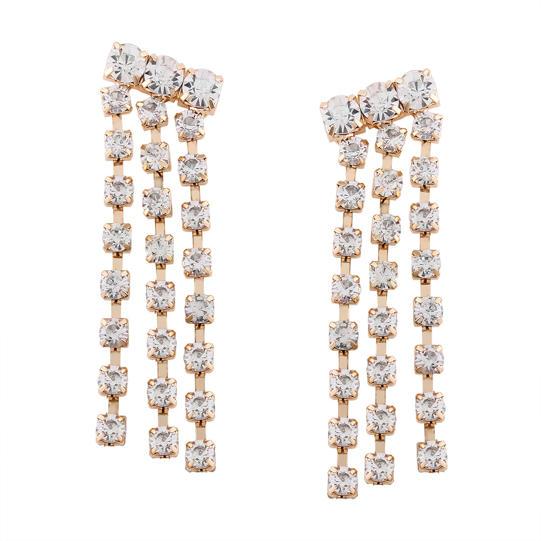 Retro alloy Diamond earring (Gold)NHNMD3773-Gold