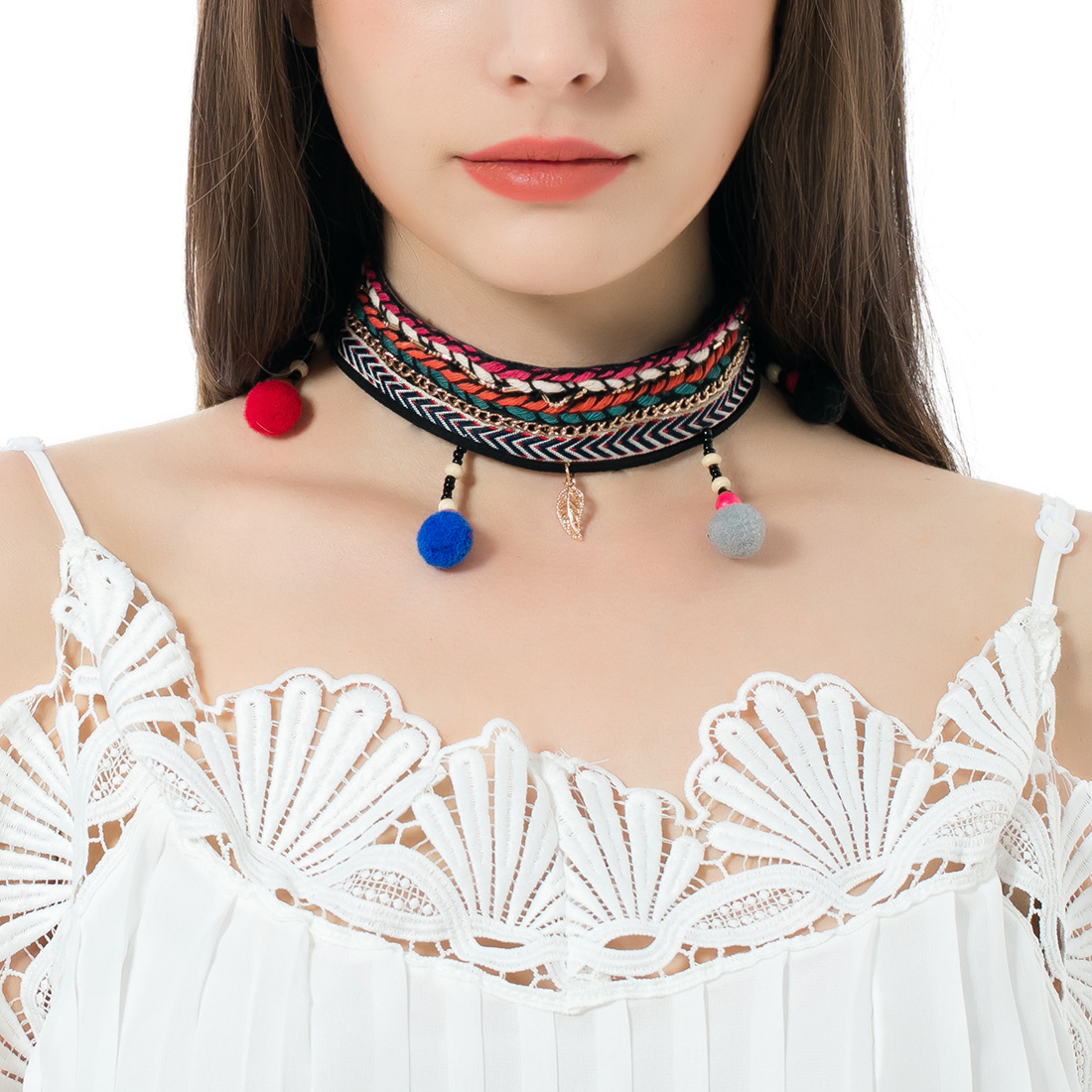Occident and the United States alloy plating necklace (color)NHNMD3771-color