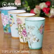 热销手绘陶瓷杯子 家居摆件装饰工艺品 创意礼品情侣马克杯定制