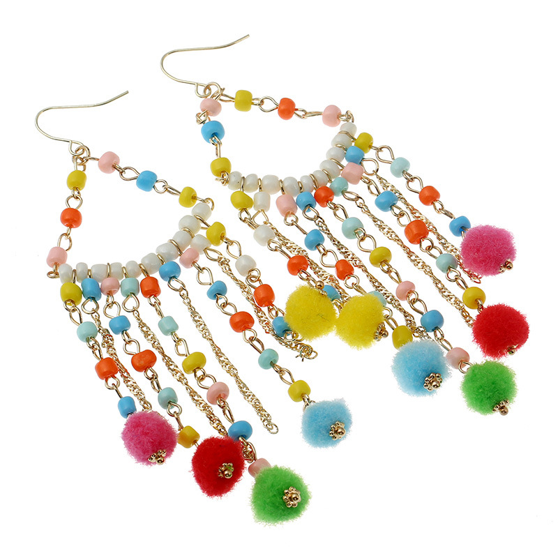 Occident and the United States alloy Handmade earring (Mixed color)NHNNZ3012-Mixed color