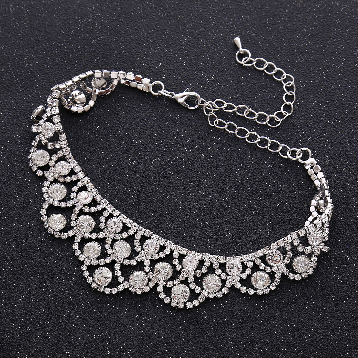Occident and the United States alloy Diamond necklace (Gun black)NHNMD3813-Gun black