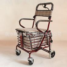 老年购物车 老人手推车购物车代步老年人助行器助步可坐带轮折叠