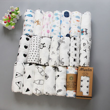 muslin純棉紗布浴巾2層嬰兒包巾新生兒襁褓巾INS爆款推車座椅開票