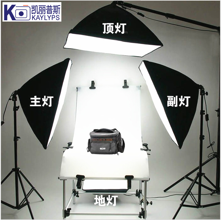 摄影器材60×130CM静物拍摄台柔光箱摄影棚摄影灯套装 不含灯泡