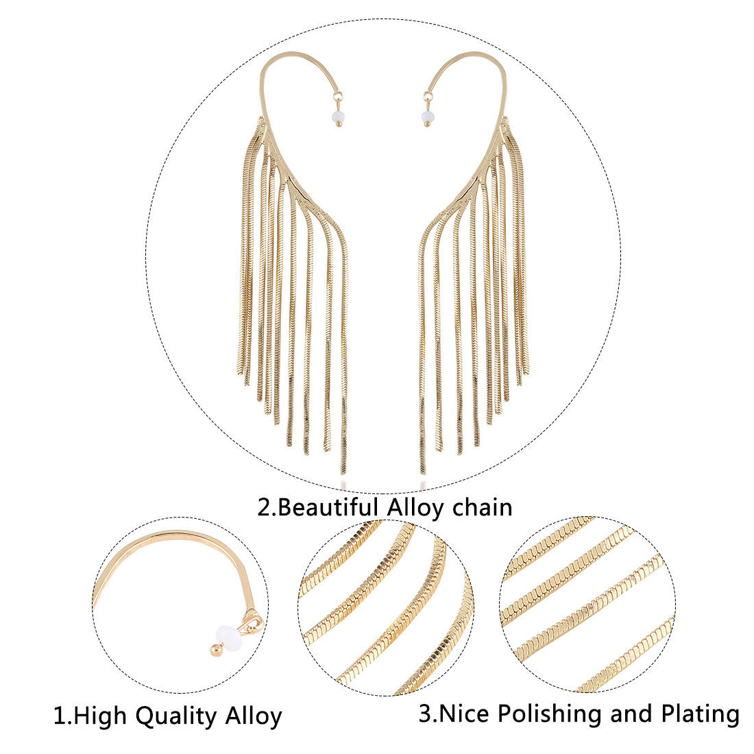 Occident and the United States alloy plating earring (White k)NHNMD3783-White k