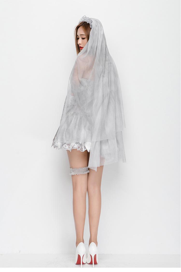 New beautiful new veil ghost bride Halloween costume NHFE155298