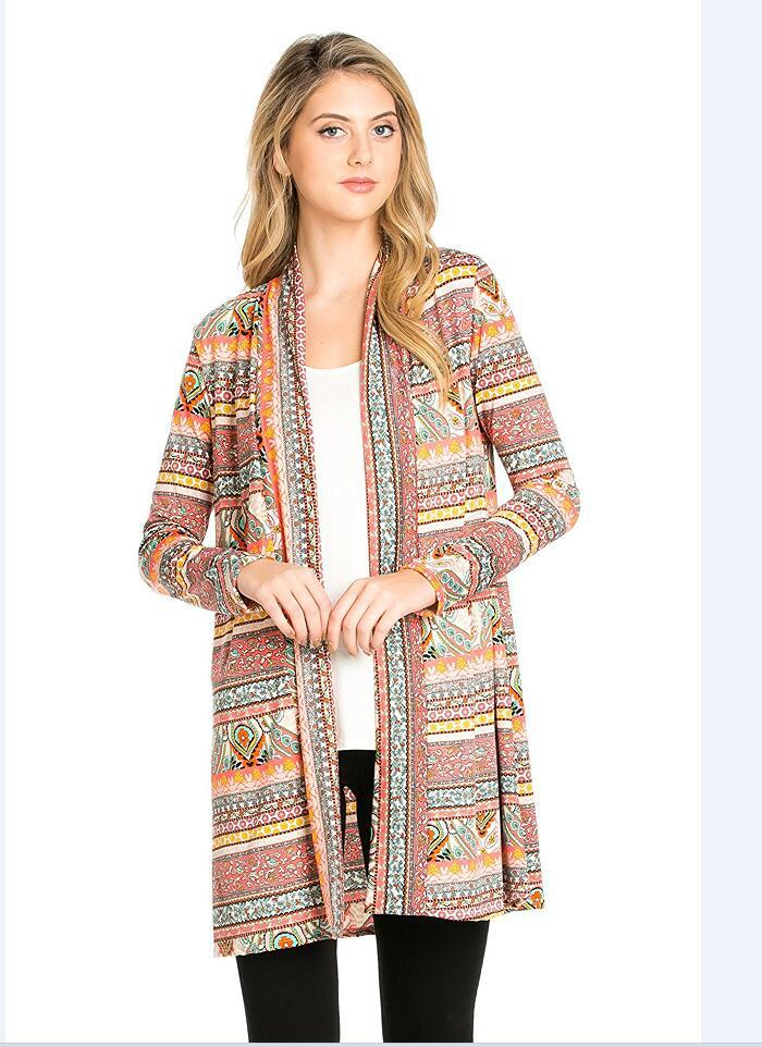 Occident and the United States Polyestercoat (Picture color 2-XL)NHYF1346-Picture color 2-XL