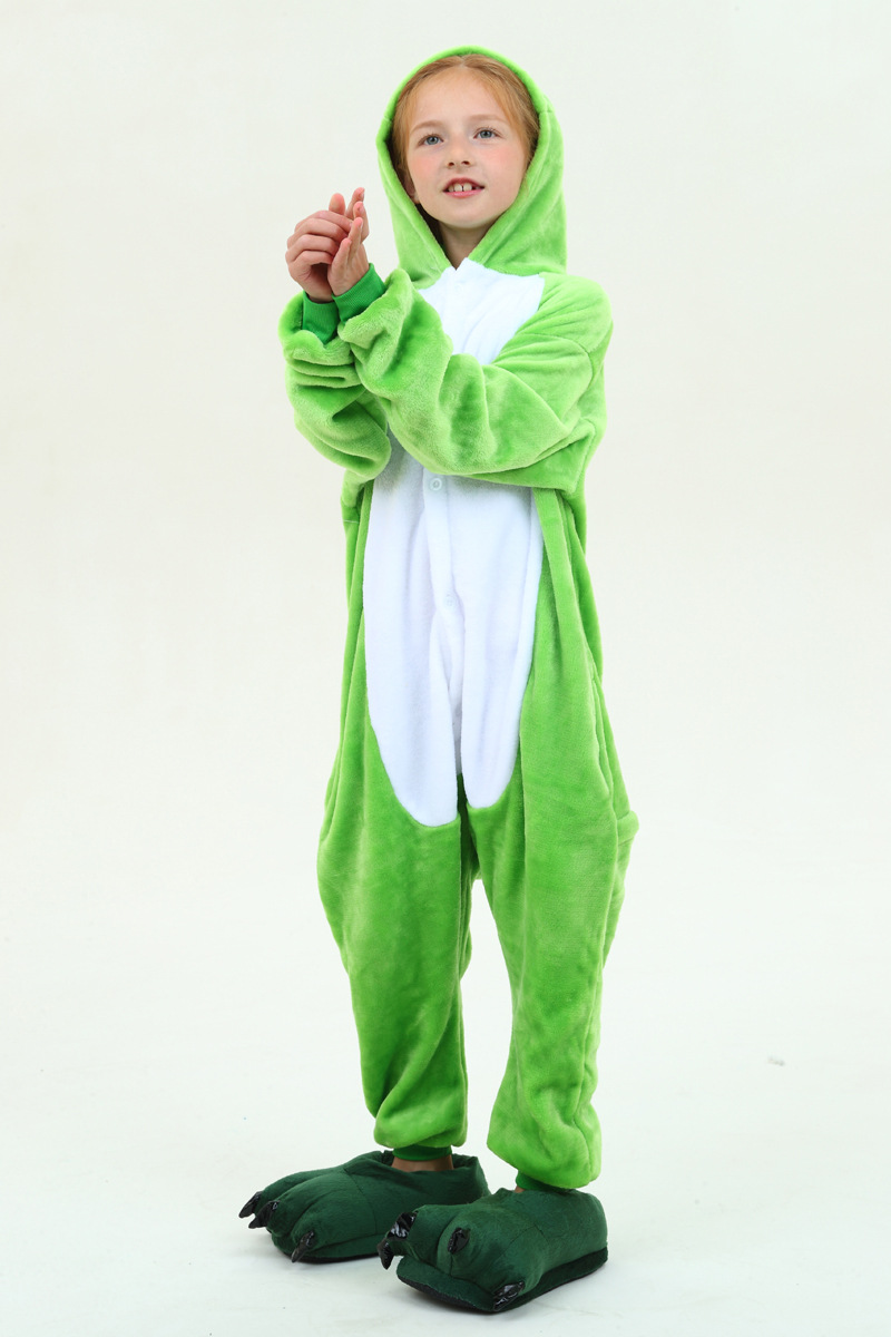 027d44a65d Lovely Children One Piece Pajamas Animal Frog Cosplay Pajamas For 3 ...