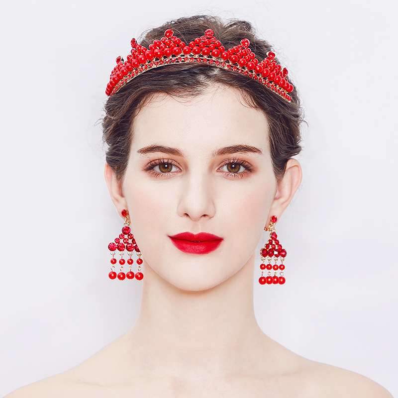 Alloy Fashion Geometric Hair accessories  (red) NHHS0185-red