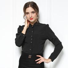 新款雪纺女衬衫工装 韩版修身?#21487;?#34924;衣 OL风职业套装支持定制