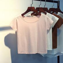 Áo thun nữ trơn dễ thương, phối màu trẻ trung, thiết kế giản dị