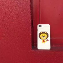 可爱卡通小狮子创意DIY积木乐高苹果6s手机壳iPhone7 Plus硬壳套