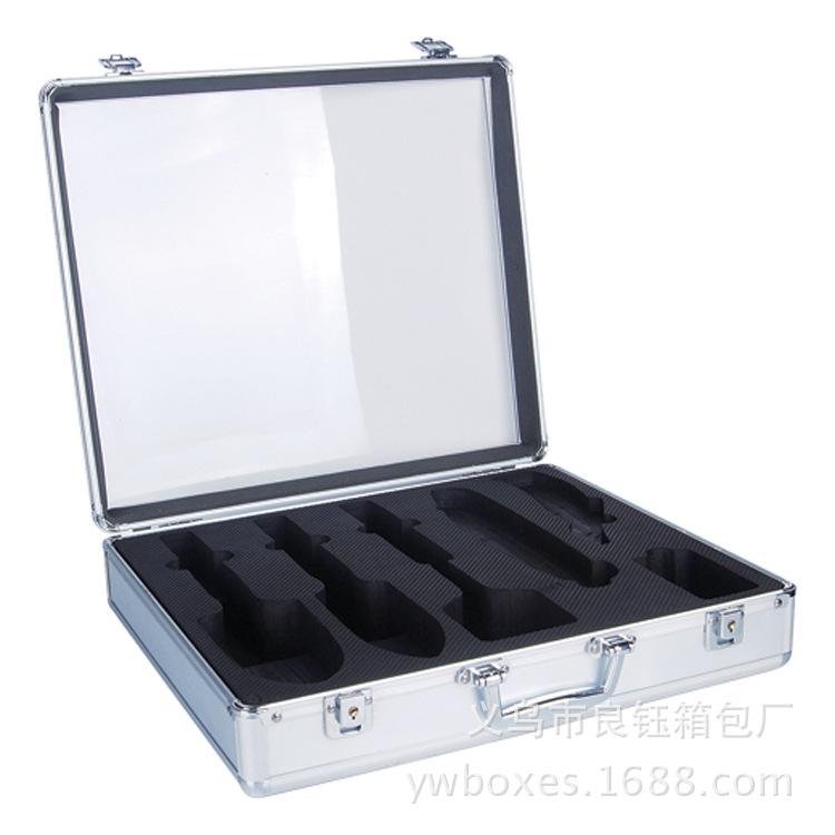 厂家直销手提铝合金工具箱   带EVA剿模型产品展示箱