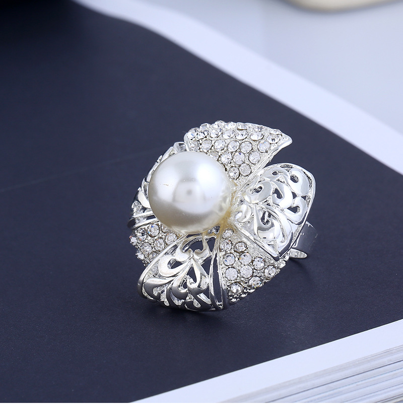 Fashion OL alloy plating Ring (White K-White - One Size)NHKQ1159-White K-White - One Size